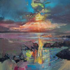 Harris Sky oil painting by scottish landscape artist Scott Naismith