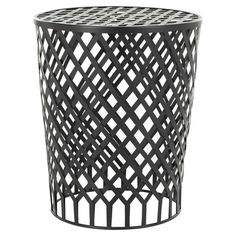 Openwork iron stool.Product: Stool    Construction Material: Iron    Color: Graphite   Fea...