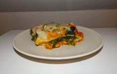 Veganské špenátovo - dýňové lasagne