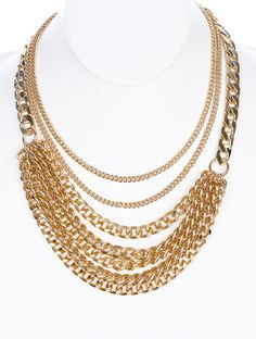 Multi Layered Chunky Cain Necklace