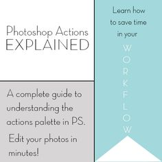 Tutorial on how to use Photoshop Actions!! So helpful! { lilluna.com } #photoshop