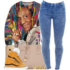 Pop o' Color Cosby by oh-aurora on Polyvore featuring Vans, Yves Saint Laurent, Olivia Burton, Charlotte Russe, Artelier by Cristina Ramella and throwback