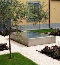 // Bergamo. Hanging garden for a residential building by Sandrini Green Architecture.