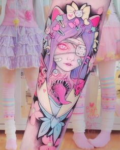 Pink gore and Pop Culture: The latest tattoos by Brando Chiesa ~.~ Pink Gore et Pop Culture: les derniers tatouages ​​de Brando Chiesa ~. Dream Tattoos, Future Tattoos, Sexy Tattoos, Unique Tattoos, Beautiful Tattoos, Body Art Tattoos, Girl Tattoos, Womens Fashion Online, Latest Fashion For Women