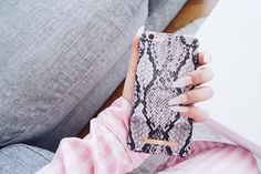 Python by @jasminnikolausson - Fashion case phone cases iPhone nails pink inspiration iDeal of Sweden