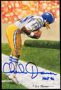 Charlie Joiner Signed Goal Line Art GLAC Autographed Chargers 8976 e5e00fba2