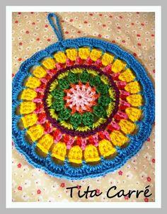 Tita Carré  Agulha e Tricot : Mandala Turca Colorida em crochet