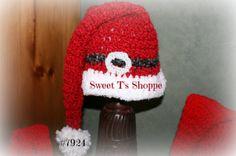 Santa Hat 20 inch deep red  baby Santa hat Santa's belt in by SweetTsShoppe, $18.95