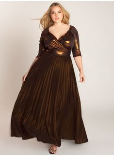 Antoinette Plus Size Gown in Copper - Evening Dresses by IGIGI