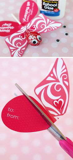 Butterfly Printable Valentine | DIY Valentines Cards for Kids to Make | Easy Valentines Cards for Kids to Make