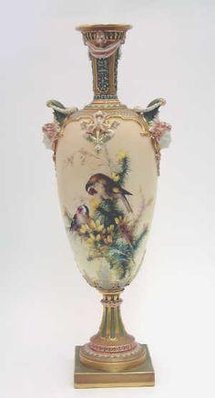 Royal Worcester Vase, C. Baldwyn