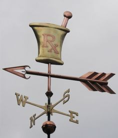Mortar and Pestle Weathervane by West Coast Weather Vanes