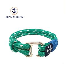 Uaithne Nautical Bracelet by Bran Marion Nautical Bracelet, Nautical Jewelry, Marine Rope, Everyday Look, Handmade Bracelets, Color Combinations, Jewelry Collection, Royal Blue, Sailors