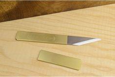 Kiridashi Japanese Utility Knife (RH) with sheath Japanese Tools, Spring Steel, Home Tools, Utility Knife, Brass, Workshop, Life, Products, Atelier
