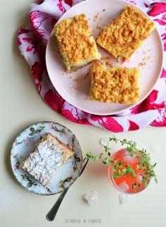Półkruche ciasto z rabarbarem i budyniem waniliowym – Skumbrie w tomacie Pudding, Food, Custard Pudding, Essen, Puddings, Meals, Yemek, Avocado Pudding, Eten