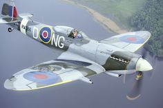 Air-to-air with a Spitfire doesn't get much better than this! Photo by Anette Holmberg. Used with permission.