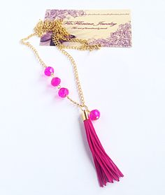 Handmade Necklaces, Tassel Necklace, Jewelery, Facebook, Jewlery, Jewels, Jewerly, Schmuck, Jewelry