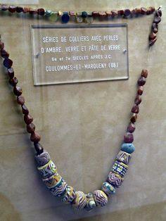 Merovingian bead set. Musee Saint-Remi-de-Reims. Photograph courtesy M.Bunker.