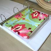 quilted 3-ring binder pouch