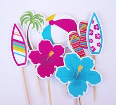 Beach Party  Beach Party Collection Set of 24 by TheBirthdayHouse, $12.00