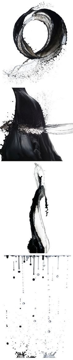 Black ink and water art work by Shinichi Maruyama Art Works, Art Painting, Art Photography, Water Art, Visual Art, Art, Abstract, Water Sculpture, Ink Painting