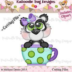 Cutie KaToodles - Teacup Panda - includes clipart