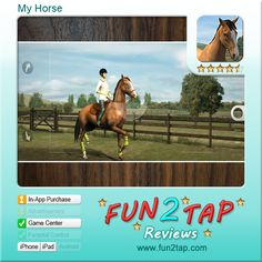 My Horse - Train your own horse. Full review at: http://fun2tap.com/index.cfm#id239 --------------------------------------  #Apps  #Games #iPad #iPhone #Casualgames