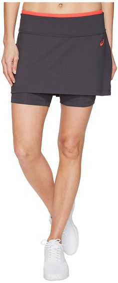 ASICS Tennis Club Booty Skort (Dark Grey) Women's Skort - ASICS, Tennis Club Booty Skort, 141156-021, Apparel Bottom Skort, Skort, Bottom, Apparel, Clothes Clothing, Gift - Outfit Ideas And Street Style 2017