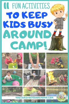 Keep a toddler busy while family camping with this fun camping activity ideas! These will work for older babies too so that you can enjoy your camp trip with the family and your toddler will stay entertained while camping! Fun toddler outdoor activities and camping crafts, easy snack options, and little chores  to help around camp this summer! #camping #familycamping #campingwithkids #campers #rv #summeractivity
