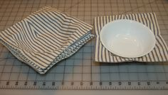 Microwave bowl caddy set; 100% cotton fabric, batting, thread; 12.21.16