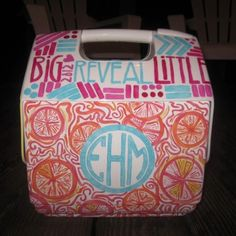 big/little reveal cooler... Ahhhh @Colleen McNichol this looks right up your alley!!