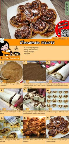 Das Zimtherzen Rezept Video findest … Try our cinnamon heart recipe with video. The cinnamon heart recipe video is easy to find using the QR code 🙂 # Biscuits Baking Recipes, Cookie Recipes, Dessert Recipes, Jaffa Cake, Valentines Day Food, Hungarian Recipes, Sweet And Salty, Food Cakes, How To Cook Pasta