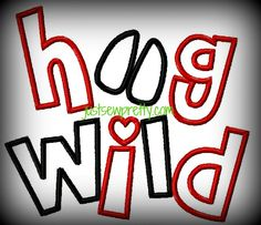 Hog Wild Applique