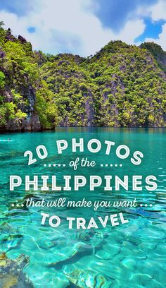 Travel the Philippines 2015: 20 Photos that will make you pack your bags and go - 2015 is the year to visit the Philippines! Book your ticket before everyone does, the Philippines is becoming the next big travel destination in South East Asia. - via @Just One Way Ticket