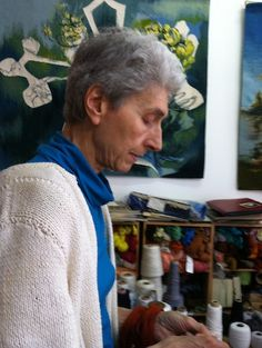 Janine has been hand weaving tapestries in Montpezat for the past 6o years....