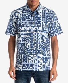 dff7a0ac Quiksilver Men's Waterman Cooks Shirt - Blue XXL Casual Button Down Shirts,  Casual Shirts,