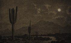 .George Elbert Burr - Moonlight, Phoenix, 1925