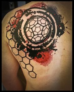 Geometric hexagonal tattoo by ~Meatshop-Tattoo on deviantART