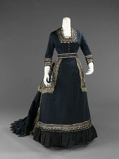 Half-mourning dress, 1872-74, the Met