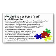 Autism Awareness card profilecard