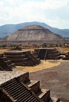Teotihuacan. The Pyramid of the Sun (top) is the largest structure in the ancient city of Teotihuacan, Mexico, and one of the largest buildings of its kind on the Western Hemisphere. It stands 216 feet (66 meters) tall and measures 720 feet (220 meters) in width at its base.Originally built as a smaller structure around A.D. 200, the pyramid was added to several times before it reached its current dimensions.