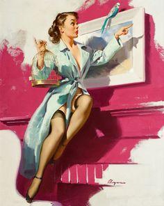 """Gil Elvgren - """"Pretty Cagey""""  1953"""
