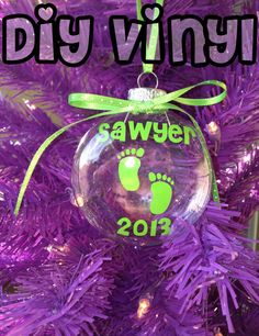 Personalized Christmas/Holiday Baby Ornament by smallvictorydesign