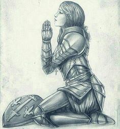 Joan of arc by Bea-Gonzalez Joan D Arc, Saint Joan Of Arc, St Joan, Jeanne D'arc, Christian Warrior, Christian Art, Catholic Art, Religious Art, Armor Of God Tattoo