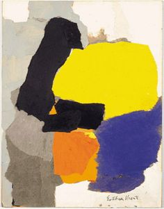 """""""Collage with Yellow, Blue and Orange"""" by Esteban Vicente (1963)"""