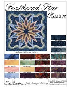 Feathered Star Queen ~ Evening Star