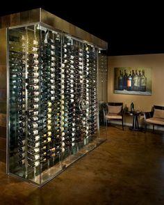Transparent Glass Wine Bottle Shelved Design Storage For The Modern Design Ideas Design