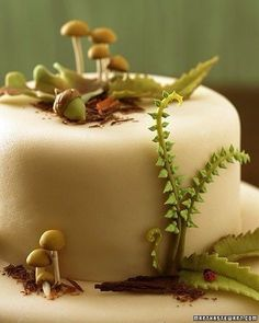Woodland Cakes - Martha Stewart Food - Magical Marzipan Forest cake - THE RECIPE This was our cake design. Pretty Cakes, Cute Cakes, Beautiful Cakes, Amazing Cakes, Cake Cookies, Cupcake Cakes, Woodland Cake, Woodland Forest, Magical Forest