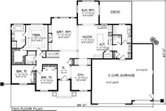 Ranch House Plan 97366