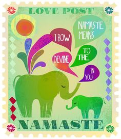 ☮ American Hippie Indian Elephant Psychedelic Art Quotes ~ Namaste